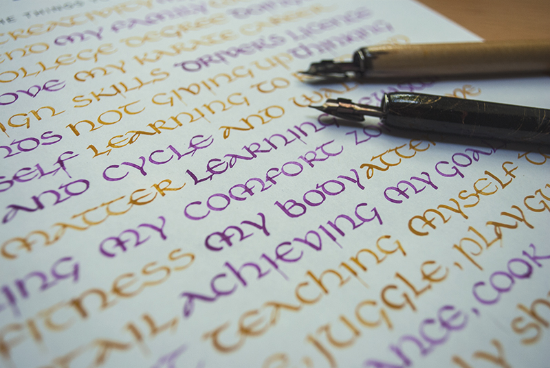 52 Lists // Week 3 // Calligraphy // Closeup