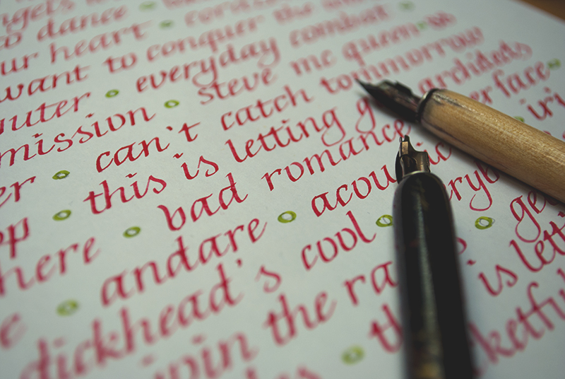 52 Lists // Week 21 // Calligraphy // Detail