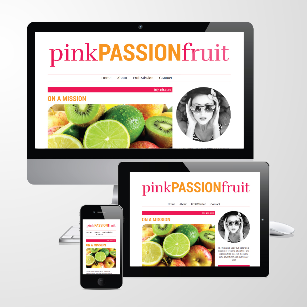 Pink Passion Fruit on Mobile, Tablet and Desktop