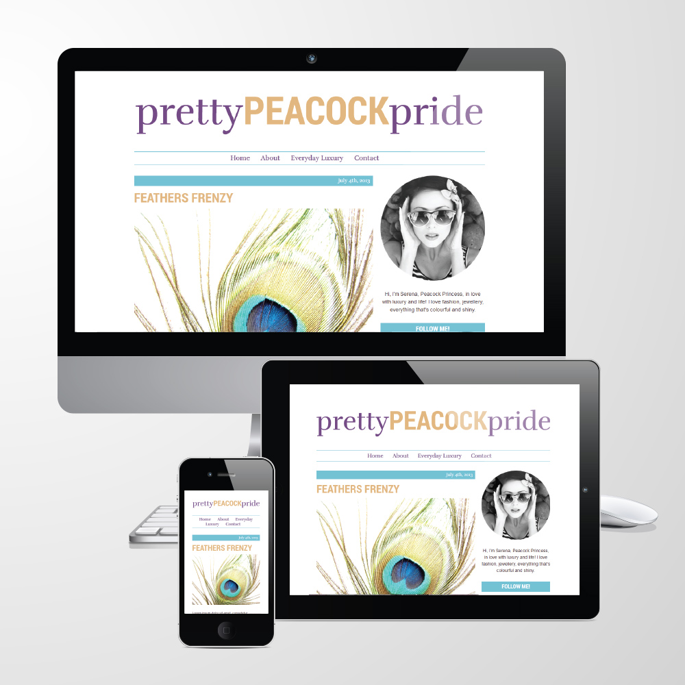 Pretty Peacock Pride Responsive WordPress Theme