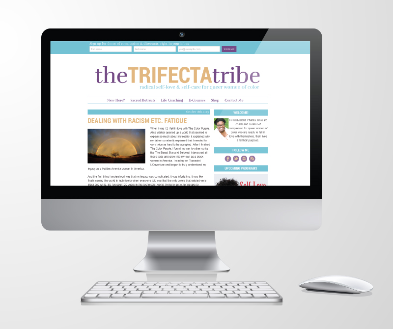 Responsive Blog Template in Use - The Trifecta Tribe