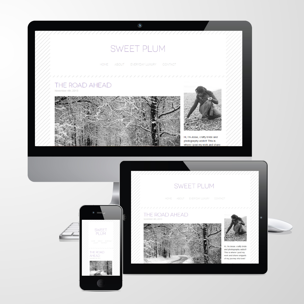 "Responsive WordPress Blog Theme ""Sweet Plum"""