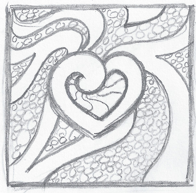 creative heart drawings related keywords creative heart