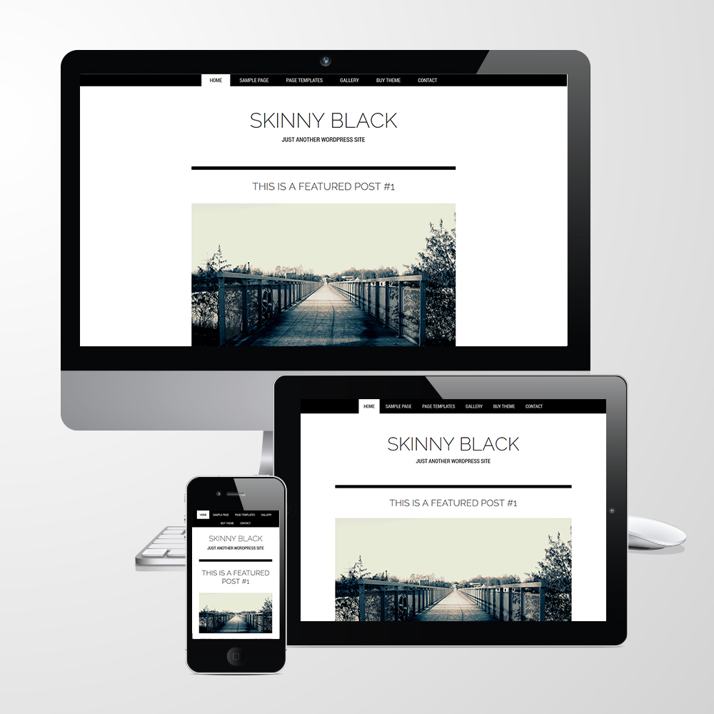Responsive Skinny Black Theme for WordPress Genesis